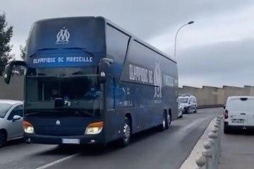 Le nouvel habillage du bus de l'OM