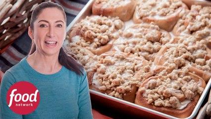 Los más ricos rollos de canela con crumble  | Horneando en Vermont | Food Network Latinoamérica