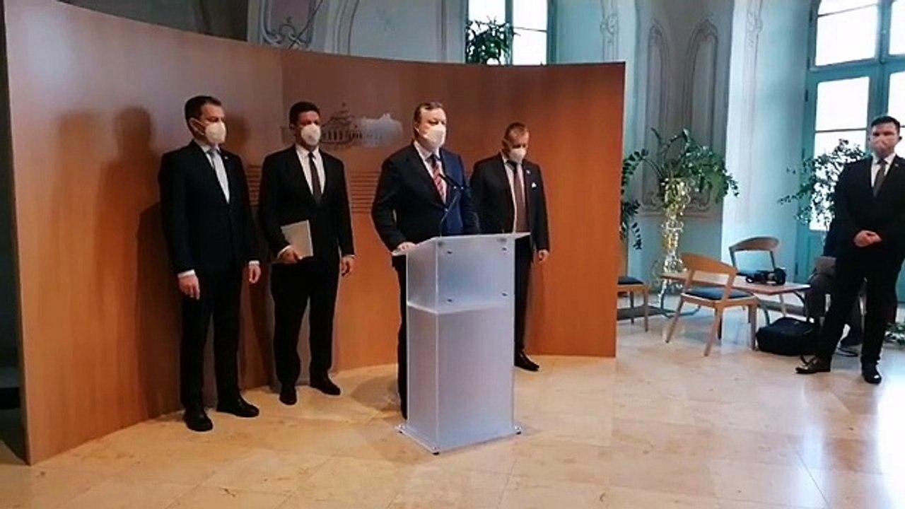 ZÁZNAM: Vyhlásenie predsedu NR SR B. Kollára a premiéra I. Matoviča