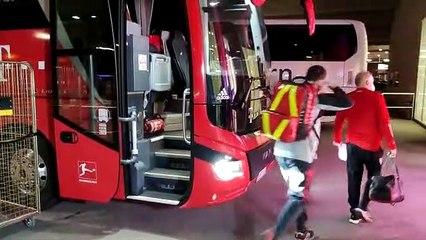 L'arrivo del Bayern all'Allianz Arena