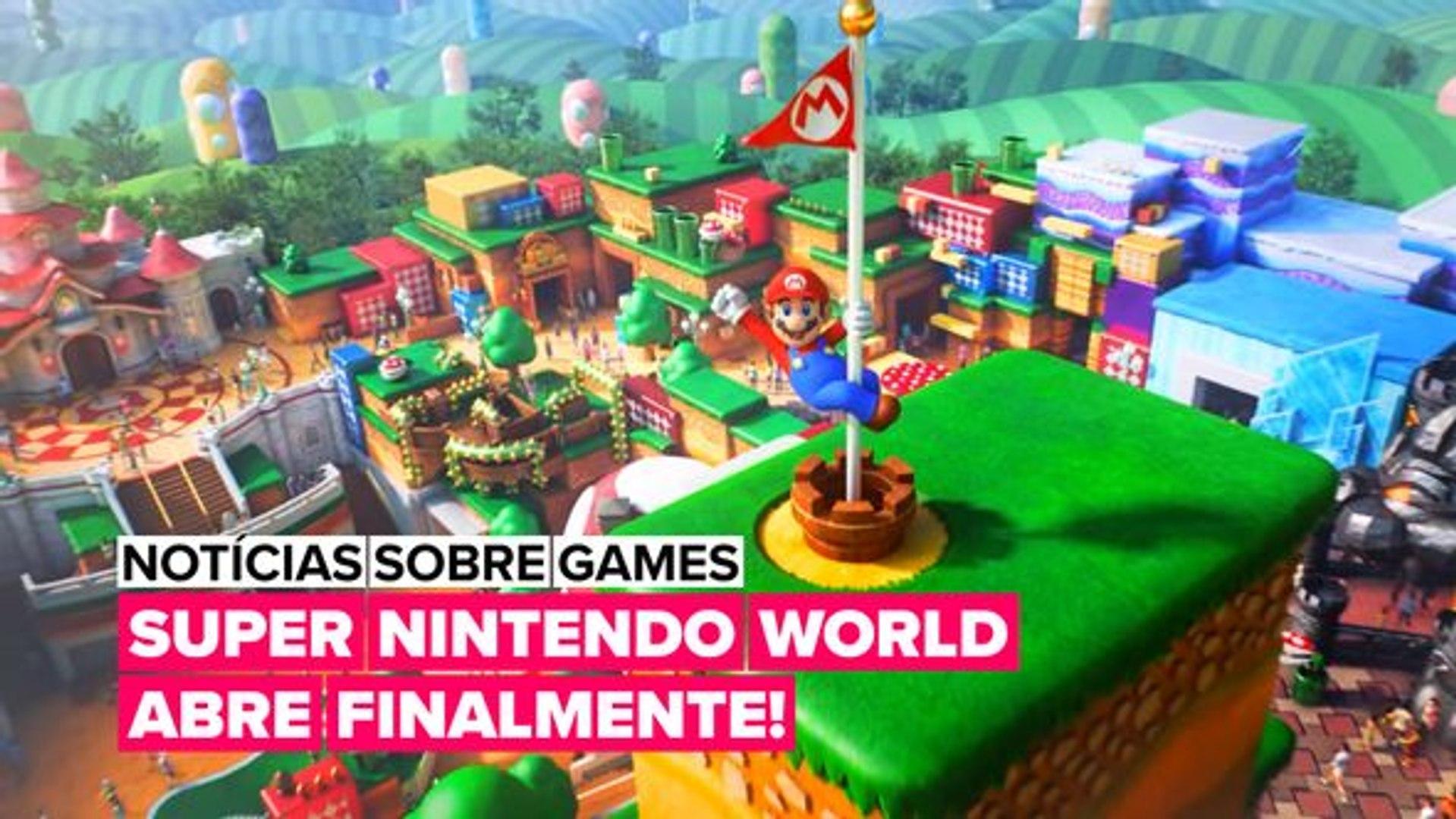 O Super Nintendo World abre hoje!