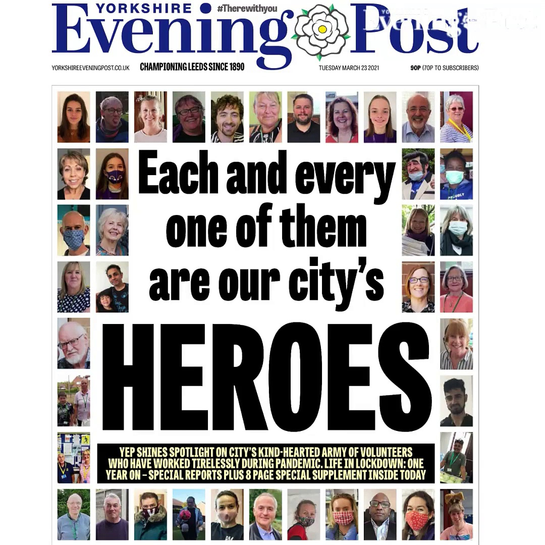 YEP Pandemic Volunteer Heroes