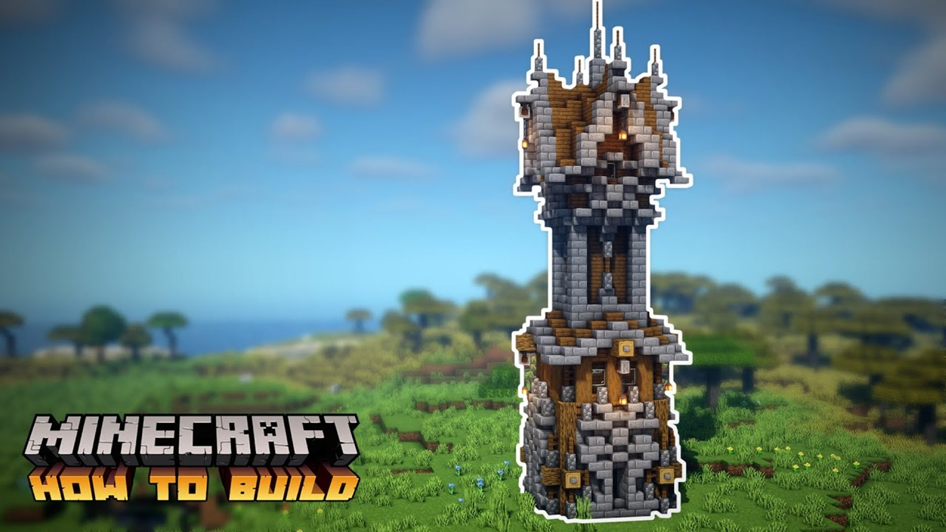 Minecraft- How to Build a Medieval Tower