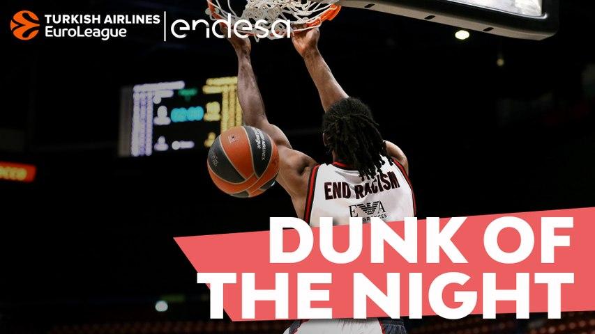 Endesa Dunk of the Night: Jeremy Evans, AX Armani Exchange Milan