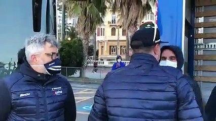 Trek Segafredo célèbre la victoire de Jasper Stuyven lors de Milan San Remo