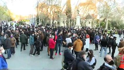 La manifestación a favor de Hasél en Madrid se disuelve sin incidencias