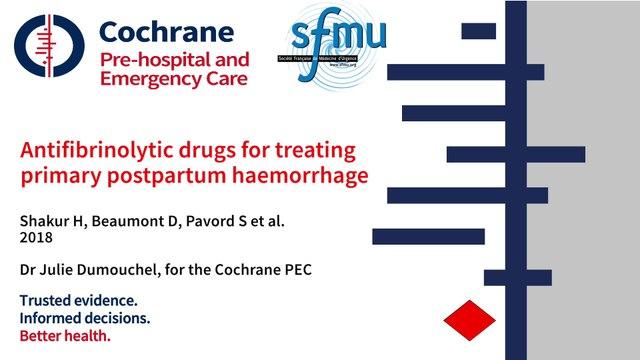 PEARL_Antifibrinolytic drugs for treating primary postpartum haemorrhage (review)