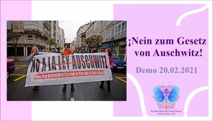 """""""¡No a la ley Auschwitz!"""" Demo: 20.02.2021, Santiago de Compostela."""