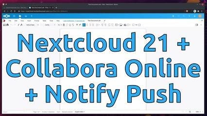 Nextcloud 21 with Collabora & HPB