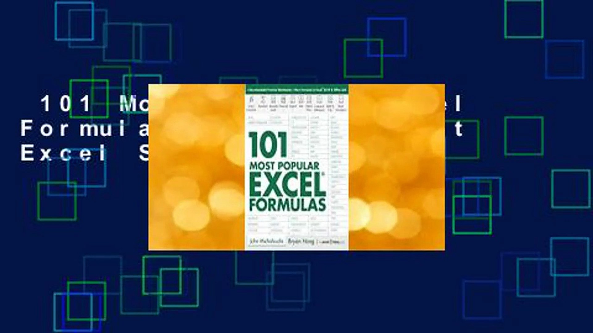 20 Most Popular Excel Formulas 20 Microsoft Excel Series Review
