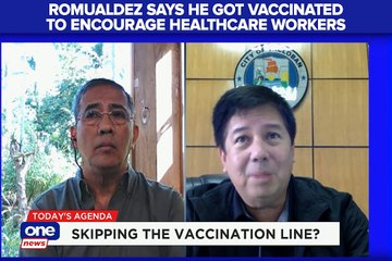 Romualdez says he got vaccinated to encourage healthcare workers