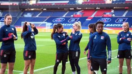 PSG - OL : images de l'entraînement des Lyonnaises au Parc des Princes