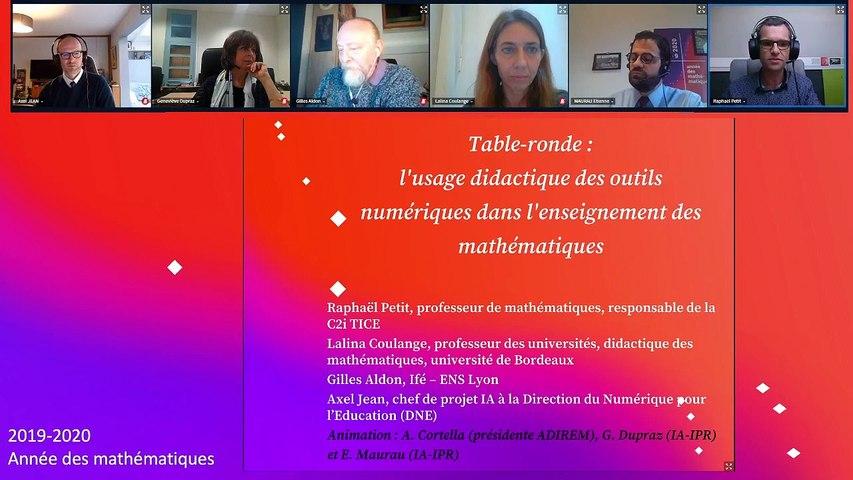 Table Ronde L'usage didactique des outils numériques dans l'enseignement des mathématiques, avec un focus sur l'enseignement à distance