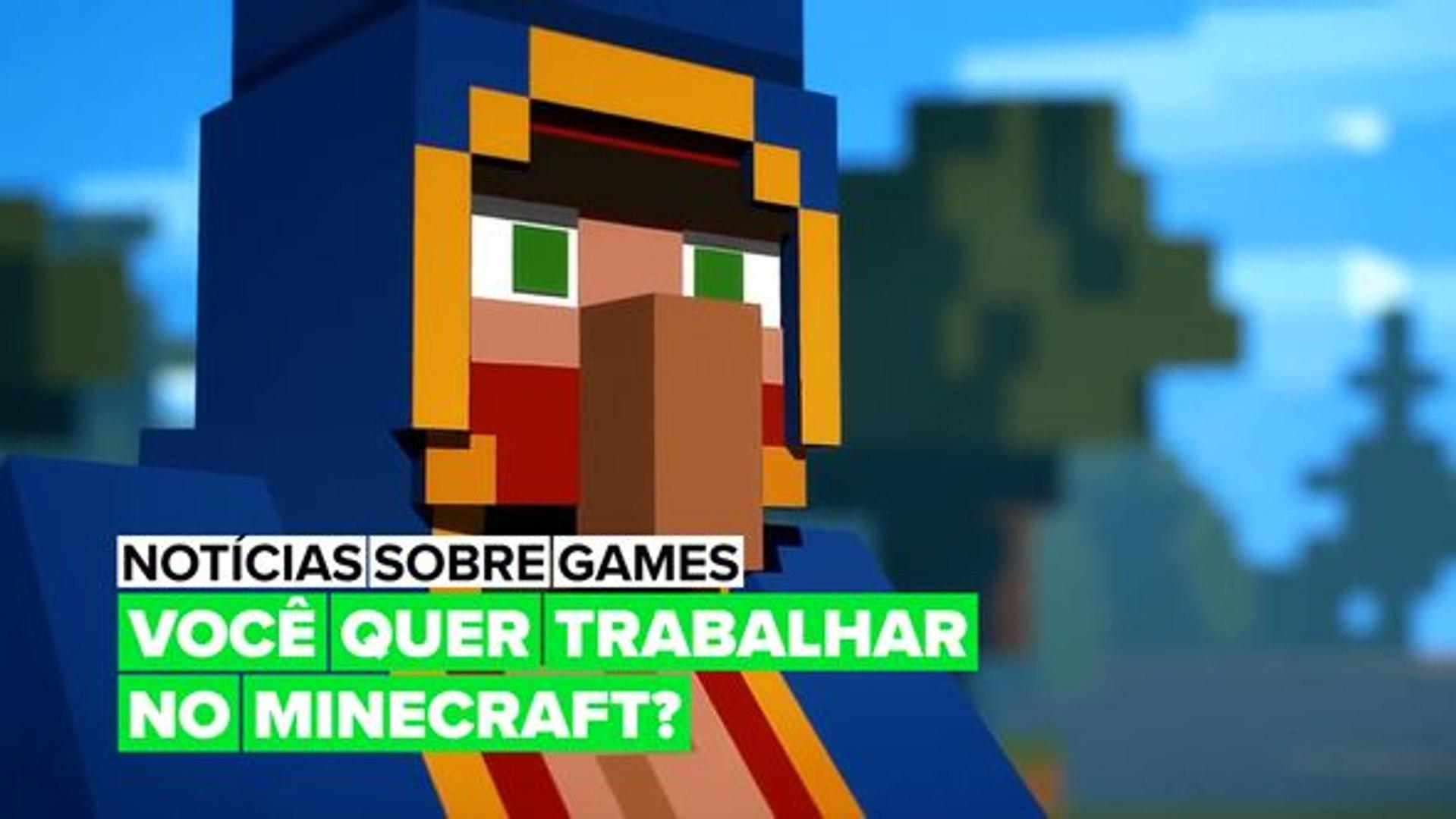 Você joga Minecraft e busca trabalho?