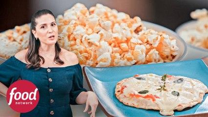 Minipizzas de frigideira e pipocas temperadas | Tudo na Panela | Food Network Brasil