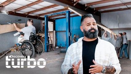 Un taller diseñado para personas con movilidad reducida | Gas Monkey al Rescate | Discovery Turbo