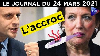 R. Bachelot : le cas Covid qui dérange Macron - JT du mercredi 24 mars 2021
