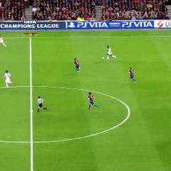 Bàn thắng của Ramires vào lưới Barcelona