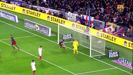 3 bàn thắng từ đá phạt của Lionel Messi vào lưới Sevilla
