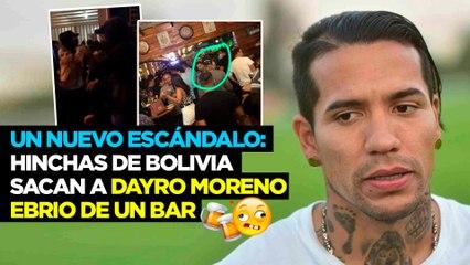 Un nuevo escándalo: Hinchas de Bolivia sacan a Dayro Moreno ebrio de un bar