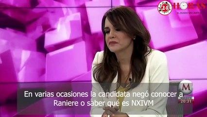 Clara Luz Flores y Keith Raniere, líder de NXIVM