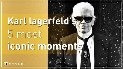 Karl Lagerfeld's five most iconic moments