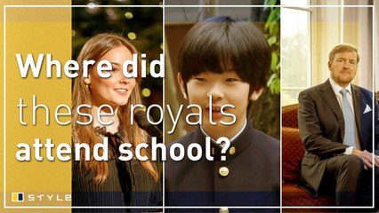 Which schools did these royals go to?