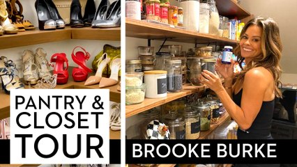 Brooke Burke Gives Us A Tour Of Her Pantry, Fridge and Closet