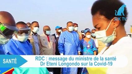 COVID-19 : le ministre de la santé de la RDC adresse un message de sensibilisation aux populations