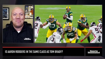 Does Aaron Rodgers belong in the same class as Tom Brady?