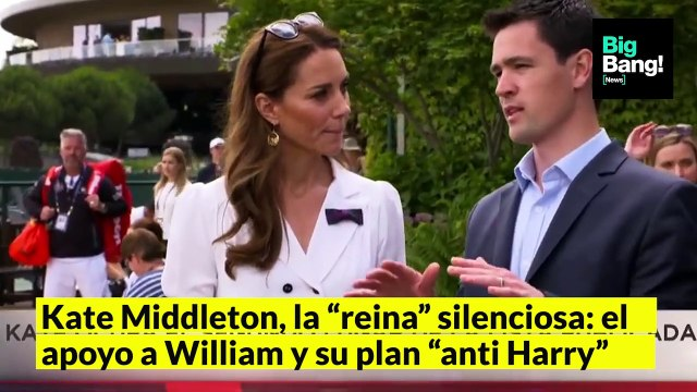 "VIDEONOTA   Kate Middleton, la ""reina silenciosa"": su apoyo a William y su plan ""anti Harry"""