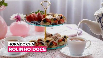 Hora do Chá: Rolinho doce