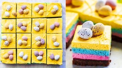 Mini Egg Cheesecake Squares
