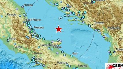 Record a largo della Puglia: oltre 90 terremoti in poche ore nell'Adriatico ed innalzamento delle onde. Scongiurato per ora il rischio tsunami