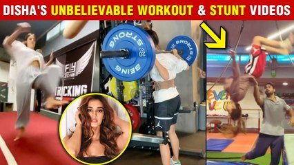 Disha Patani Lifts Super Heavy Weights, Performs Stunts | All Workout Videos