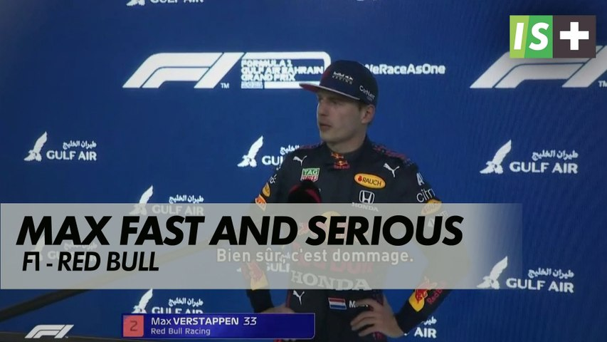 Max Verstappen, fast and serious
