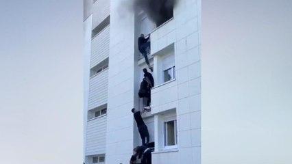 Nantes : des jeunes escaladent un immeuble pour sauver un couple et son bébé de 6 mois d'un incendie