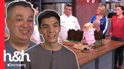 Padres e hijos diseñan pasteles con forma de animales | Hornea como Buddy | Discovery H&H