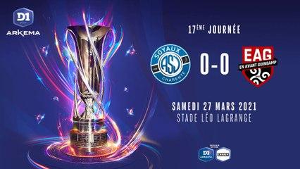 D1 Arkema - J17   ASJ Soyaux - EA Guingamp (0-0) : le résumé du match