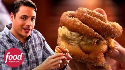 Crujiente sándwich de churros con helado | El rey del sándwich | Food Network Latinoamérica