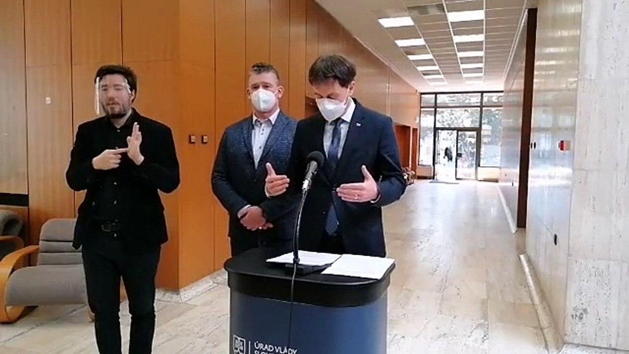ZÁZNAM: Brífing E. Hegera a R. Mikulca po rokovaní Vlády SR