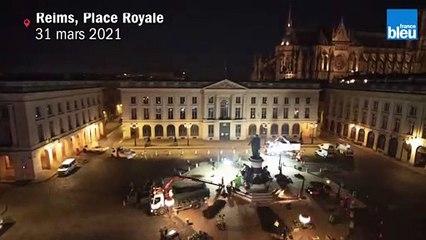 La Place Royale à  Reims végétalisée en une nuit
