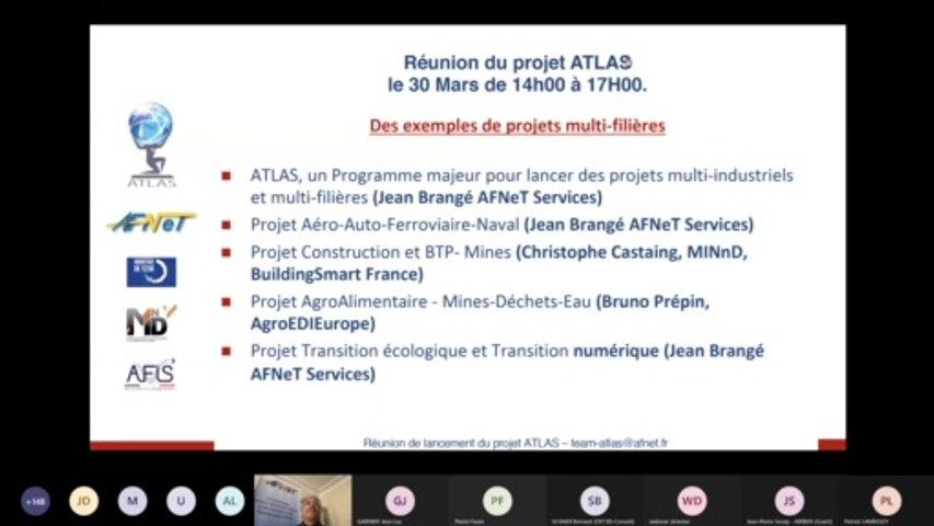 ATLAS : Réunion Lancement  2/3 : Des projets multi-filières