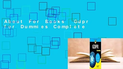 About For Books  Gdpr for Dummies Complete