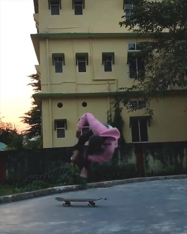 Guy Performs Flipping Tricks With Skateboard