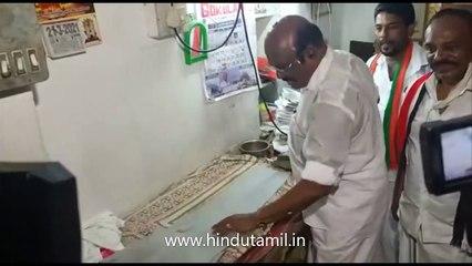 2021 சட்டமன்ற தேர்தல்  அதிமுக வேட்பாளர் அமைச்சர் ஜெயக்குமார் துணிகளுக்கு சலவை செய்து வாக்கு சேகரிப்பு