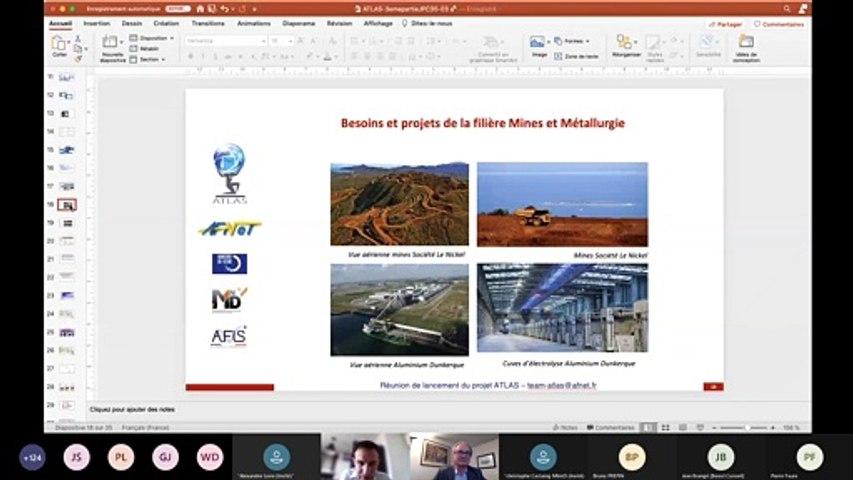 ATLAS : Réunion Lancement  3/3 : 4) Atlas et filière Mines et Métallurgie