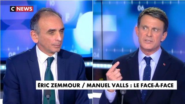 Eric Zemmour face à Manuel Valls