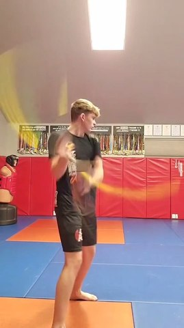 Boy Shows Incredible Speed Skills While Spinning Bo Fast