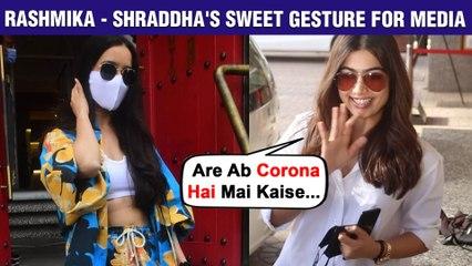 'National Crush' Rashmika Mandanna's Sweet Gesture For Media, Shraddha's Concern | Celebs Spotted